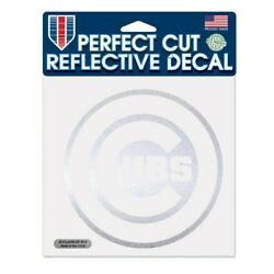 MLB Chicago Cubs Perfect Cut Reflective Decal, 6 x 6-Inch
