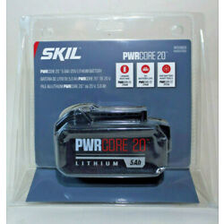 SKIL 20V 5.0Ah PWRCORE 20 Lithium-ion Battery with Fuel Gauge (BY519603) 5Ah NEW