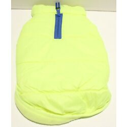 Boots and Barkley Bright Yellow Puffer Fleece Lined Dog Jacket - S or M