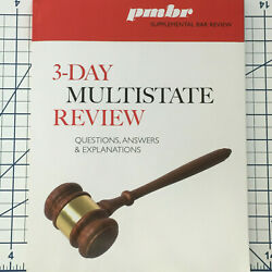 2020 - 2021 PMBR 3 Day Multistate Bar MBE Review Questions Answers Explanations