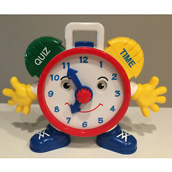 Talking Telly Quiz Time Clock Navystar 9'' Educational Learning Clock WORKING TOY