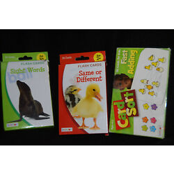 Bendon Flash Card Sight Words/Same Or Differant/Card Sort Fast Adding Ages 2-4