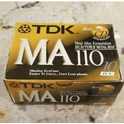 New, Sealed -- 4 TDK MA 110 Metal Position TYPE IV Cassette -- FREE SHIP