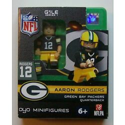 OYO Minifigures G1LE Series 1 Aaron Rodgers #12 GREEN BAY PACKERS NFL Football
