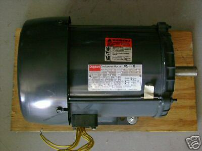 Dayton 1hp motor model 2nd933m 3 phase 208v 3 7 amps ebay for 3 phase motor hp to amps