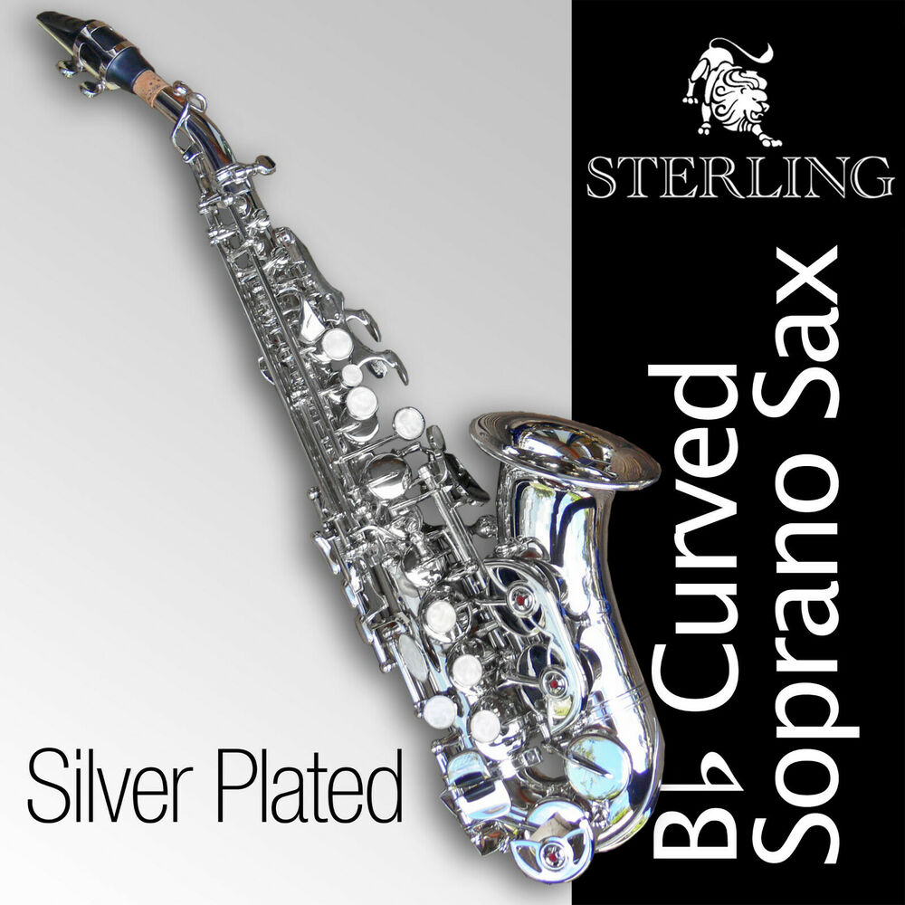 24k gold plated curved soprano sax brand new bb saxophone with case ebay. Black Bedroom Furniture Sets. Home Design Ideas