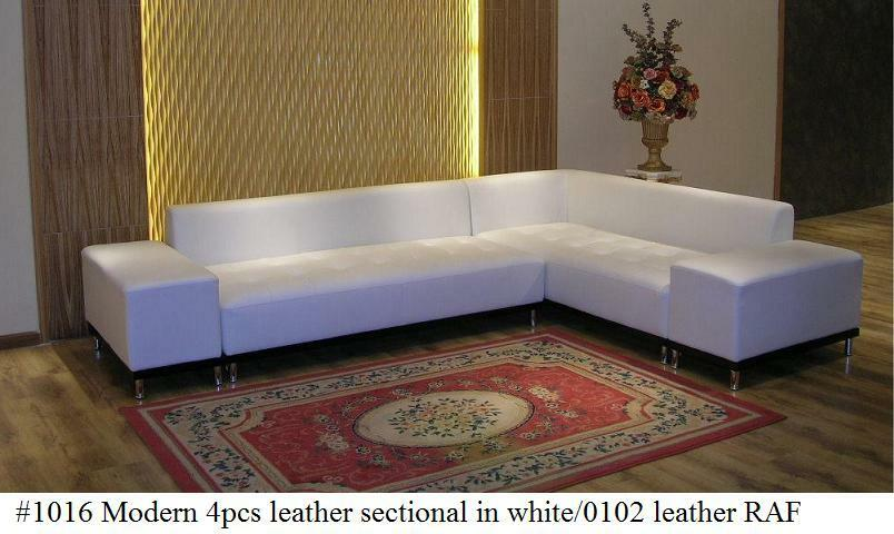 4 pc modern contemporary white leather sectional sofa w for 4 pcs sectional sofa