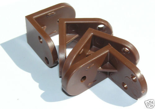 10 X Brown Plastic Angle Brackets For Furniture Assembly
