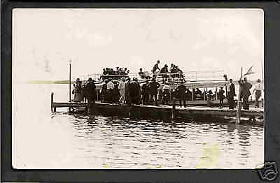 Clear lake iowa 1917 rppc princess white pier dock ia ebay for Clear lake iowa fishing