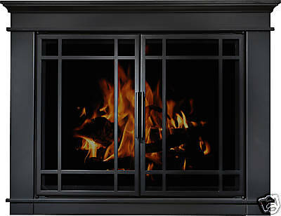 Residential Retreat Hamilton Glass Fireplace Door Matte