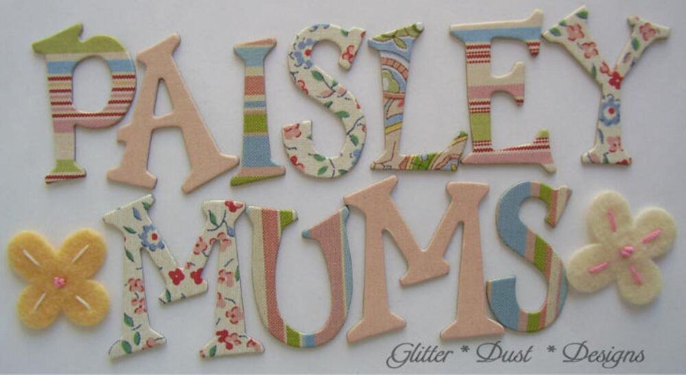 Daisy d39s vintage paisley chipboard letters alphabet ebay for Where to buy chipboard letters