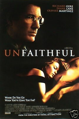 unfaithful asian movie poster richard gere diane lane ebay