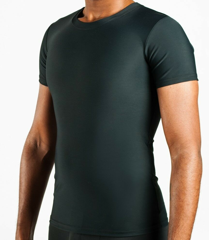 Compression t shirt for gynecomastia undershirt med black for Compressed promotional t shirts