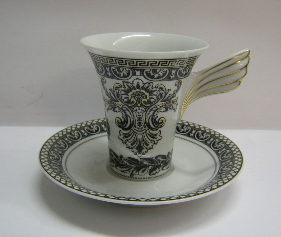 rosenthal versace ikarus marqueterie kaffeetasse neu ebay. Black Bedroom Furniture Sets. Home Design Ideas