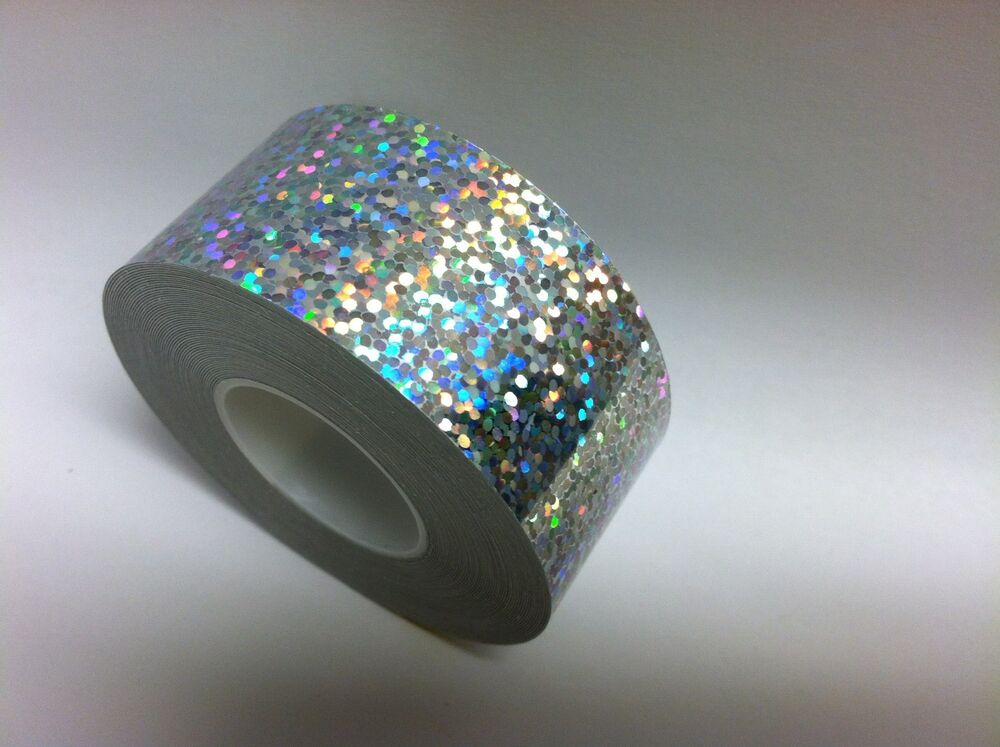 Silver Hologlitter Sequins Holographic Vinyl Adhesive Tape
