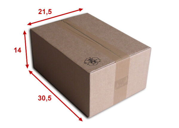5 boîtes emballages cartons  n° 36   - 305x215x140 mm - simple cannelure