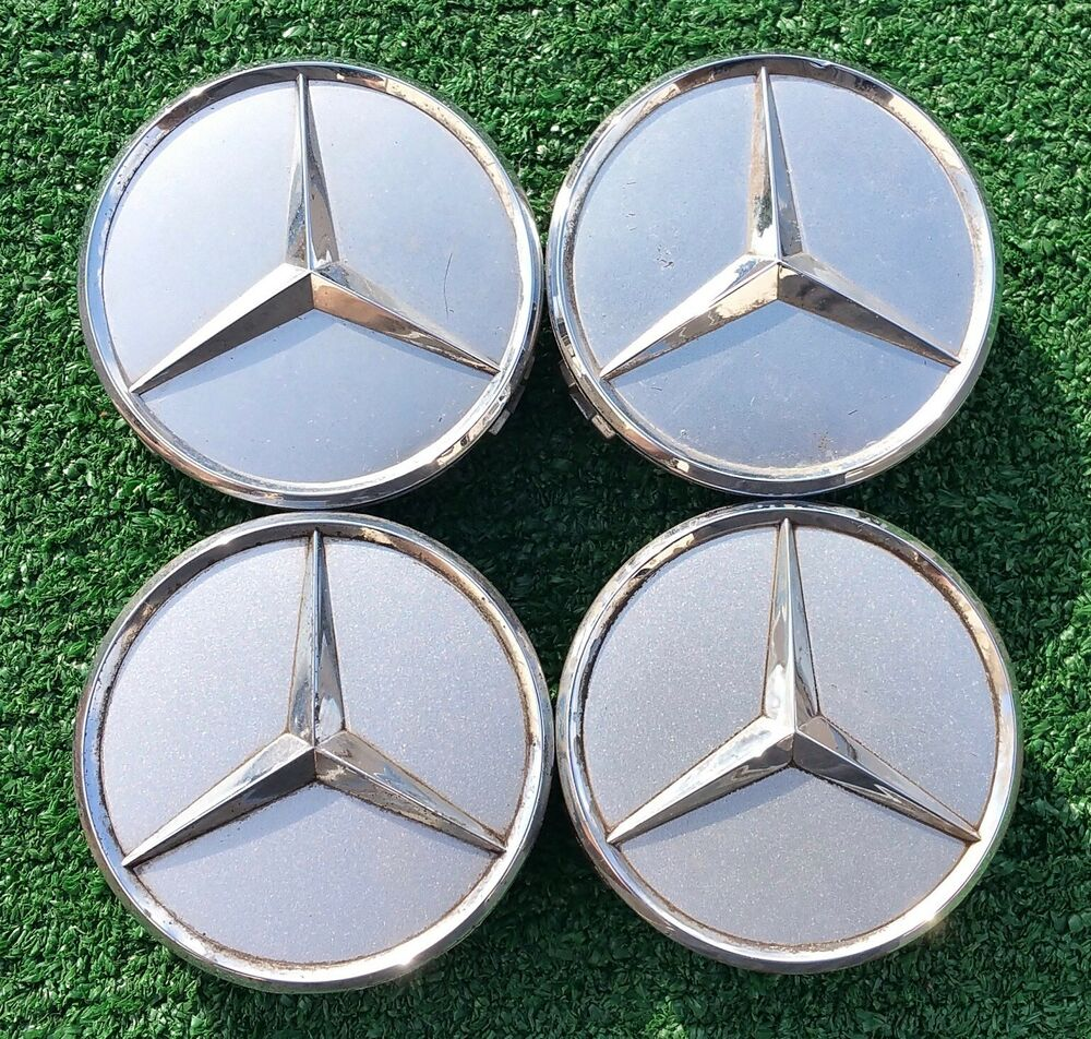 1 original genuine oem factory chrome star mercedes benz 3 for Chrome rims for mercedes benz