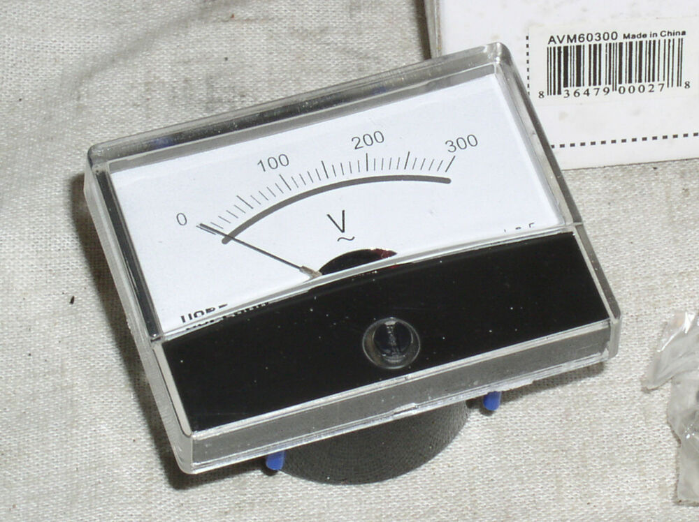 Analog Power Meter : Brand new unused vac ac volt analog line power