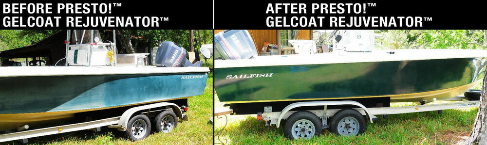 Gelcoat Rejuvenator 16 Oz Revives Fiberglass Paint Rv Yacht Air Plane Wax Ebay