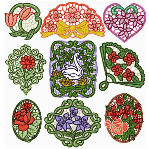 Stand Alone Lace Designs : Abc designs romantic lace medallions standalone embroidery