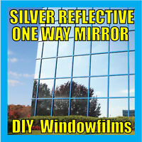 SILVER REFLECTIVE SOLAR WINDOW FILM - 76cm x 4m