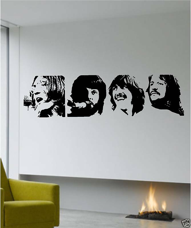 The Beatles Fab Four Vinyl Sticker Quote Wall Art Ebay