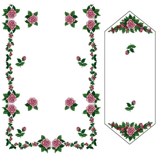 ABC Designs Roses #2 Machine Cross Stitch Embroidery