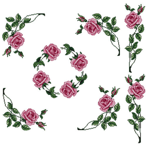 ABC Designs Roses #5 Machine Cross Stitch Embroidery