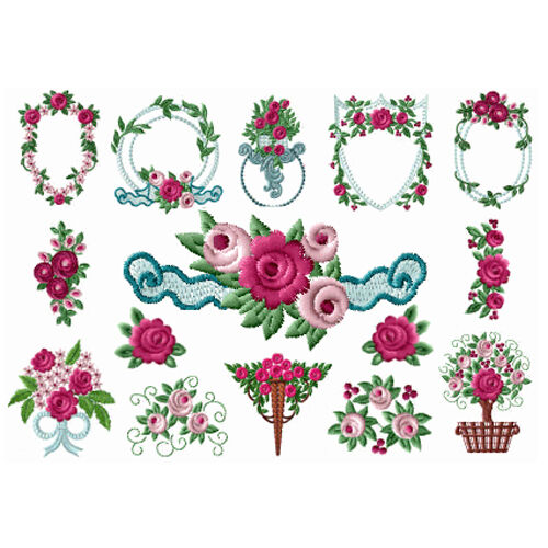 Abc designs sweetfashion roses machine embroidery