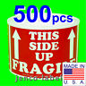 ML35107, 500 3x5 This Side Up Fragile Labels/Stickers