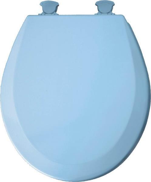 New Bemis 46ec 034 Usa Quality Round Sky Blue Wood Toilet