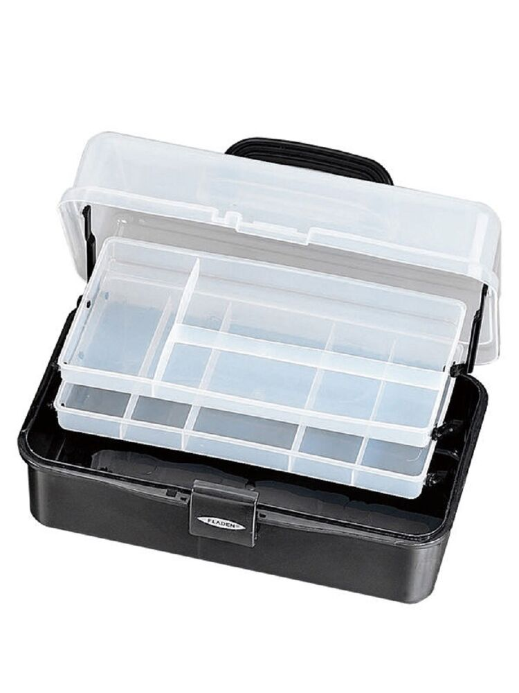 Brand new 2 tray cantilever fishing tackle box large ebay for Large tackle boxes for fishing