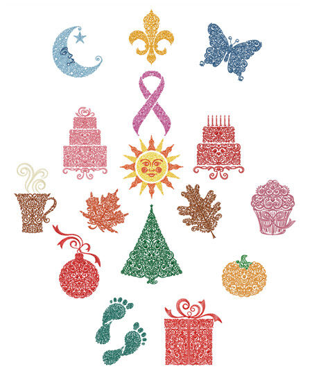 Abc designs frilly symbols machine embroidery designs 5x7 for Embroidery office design version 7 5
