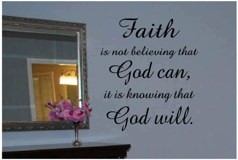 Faith God Quote Wall Decal Decor Art Sticker Mural Ebay