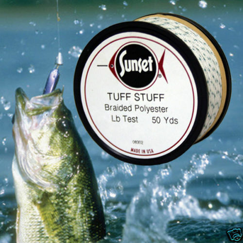 Tuff stuff braided poly fishing line 50 yd 60 test ebay for Fishing line test