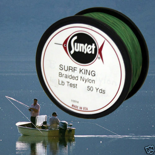 Surf king braided nylon fishing line 50 yd 40 test ebay for Fishing line test
