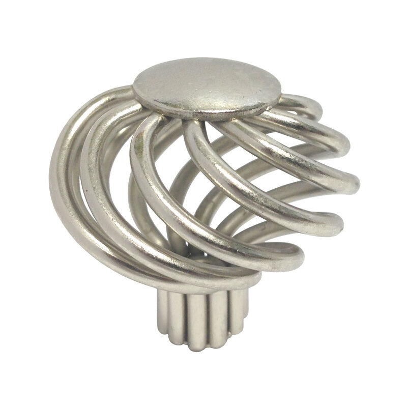 Brushed nickel bird cage cabinet knobs birdcage 1 5 8 ebay for 4 kitchen cabinet handles