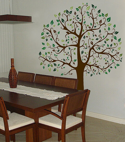Wall decal 6 ft big tree col deco art sticker mural ebay for Big tree with bird wall decal deco art sticker mural