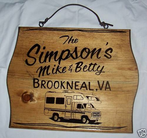 x PERSONALIZED CLASS C Motor Home RV Camping Wood Sign