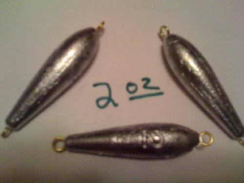 Inline trolling sinkers 2 oz quantity 100 ebay for Inline fishing weights