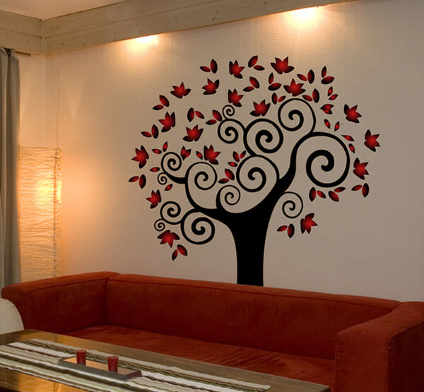 Tree Wall Decal Deco Art Sticker Mural Amazing Colors Ebay