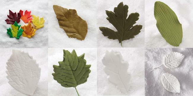 Edible Cake Decorations Holly Leaves : EDIBLE CAKE Sugar Leaf Leaves DECORATIONS OAK MAPLE IVY eBay