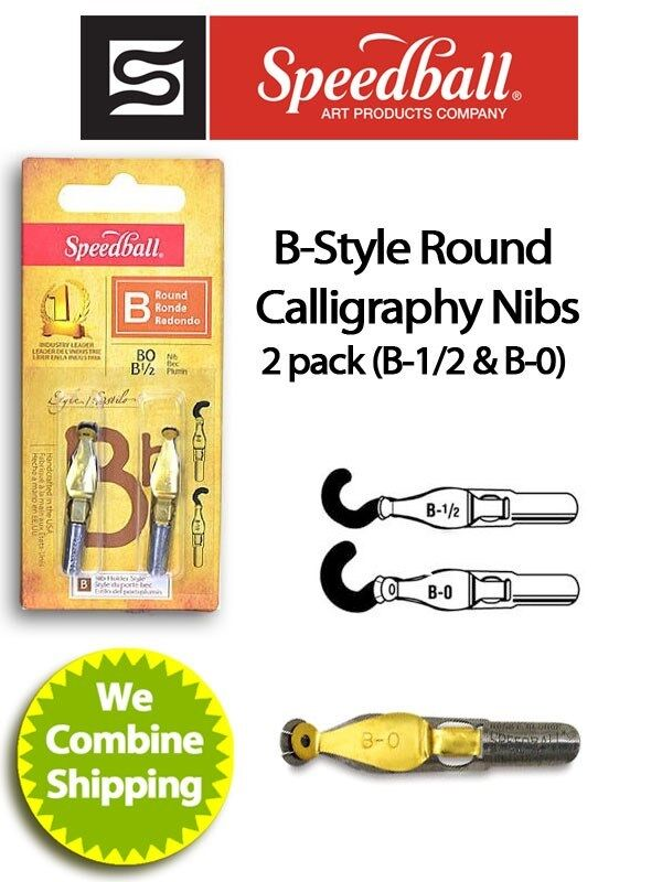 Speedball calligraphy b style pen nib 2 pack b1 2 b0 Speedball calligraphy nibs
