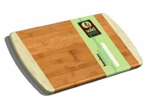 solid green large two tone bamboo cutting board 13x10 5 ebay. Black Bedroom Furniture Sets. Home Design Ideas