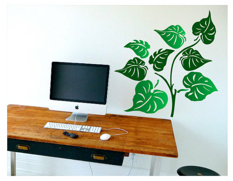 Harga Wall Sticker Deco : Leaves foliage wall decal deco vinyl art sticker mural
