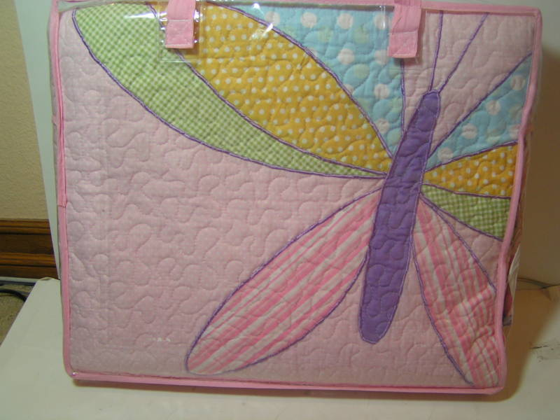 New Kids Expressions Pink Twin Quilt Mirella Dragonfly