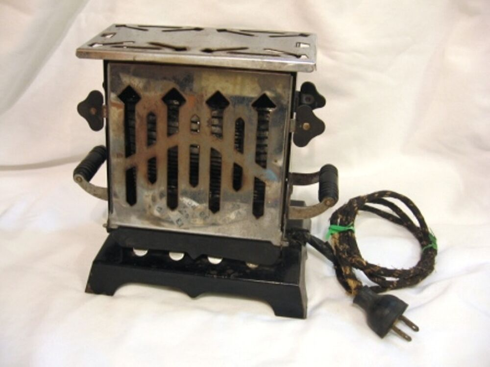 Electric Toasters From 1930 ~ Antique art deco sided toaster works ebay