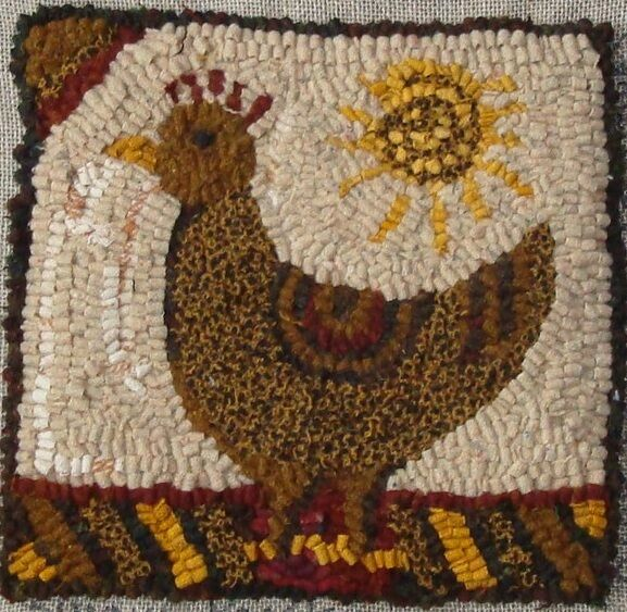 RUG IN A DAY~PRIMITIVE RUGHOOKING PATTERN~SUNNY CHICKEN