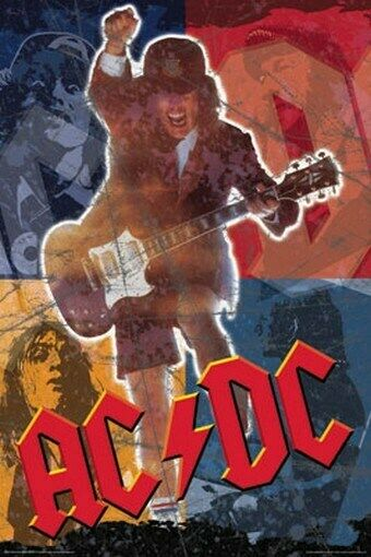 ac dc poster angus young acdc collage rare hot 24x36 ebay. Black Bedroom Furniture Sets. Home Design Ideas