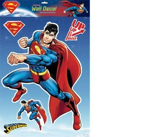 superman wall sticker 12x16 inches new decal ebay